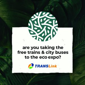 Free trains and city buses to the Eco Expo